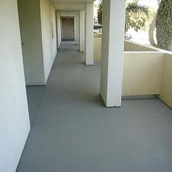 concrep - crac repair condo deck after Brooks Quality Coatings