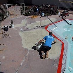 Pool Deck 2 before