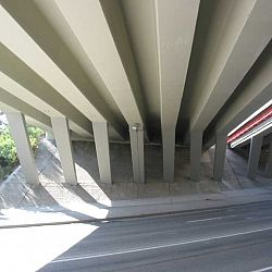 concrep - web Bridge over the highway D1 - Czech Republic
