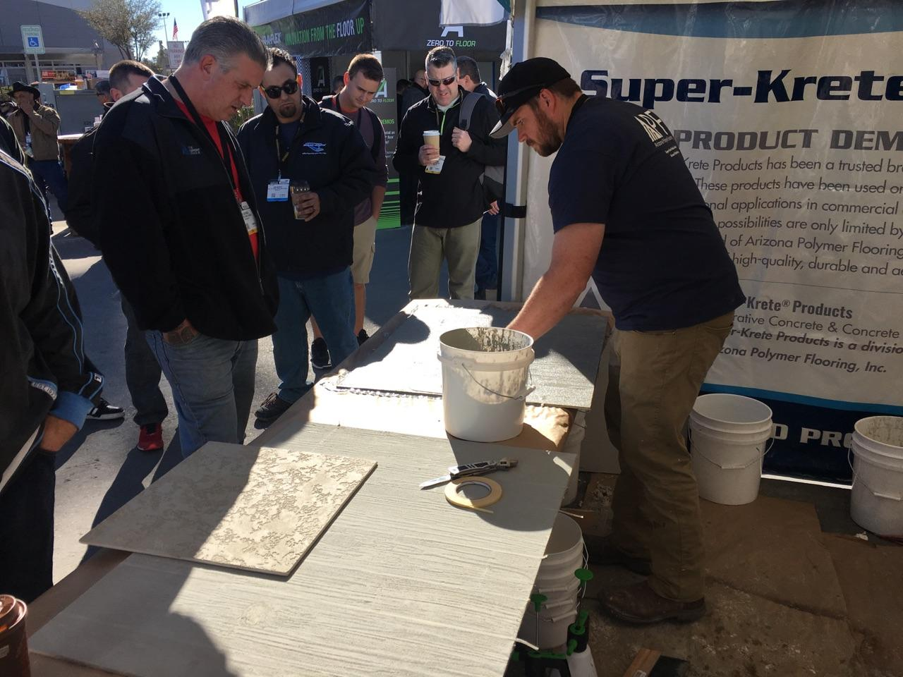 Super-Krete® Products Faux Wood, Decorative Concrete Systems Big Hit at World of Concrete