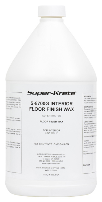 S-8700 INTERIOR FLOOR FINISH WAX™