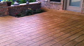 Faux Wood Concrete Resurfacing System