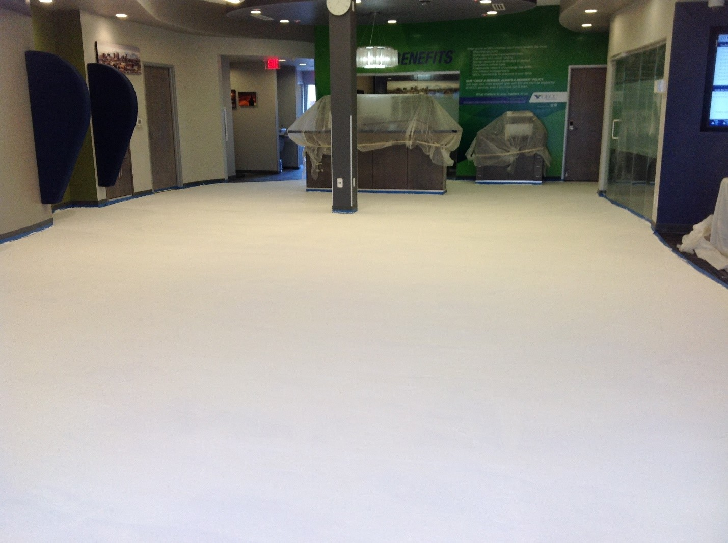 Project Profile: Flooring Installation for Busy Bank in El Paso Exceeds Tight Turnaround Expectations While Delivering a Functional Masterpiece